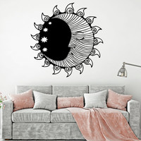 Vinyl Wall Decal Sun Moon Stars Bedroom Room Decoration Interior Stickers Unique Gift (ig4915)