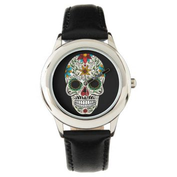 Day Dead Sugar Skull Watch