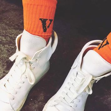 VLONE FRIENDS Unisex Socks
