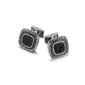 John Hardy classic chain collection square cufflinks 18.5x18.5mm