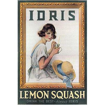 IDRIS LEMON SQUASH VINTAGE POSTER united kingdom 24X36 new  UNIQUE HOT