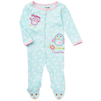 Babies R Us Girls' Printed Sleep N Play Snap Front