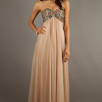Elegant Strapless Sweetheart Gown