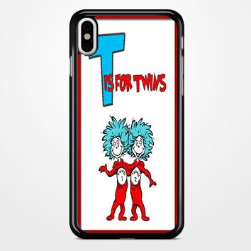 Thing 1 And Thing 2 iPhone X Case