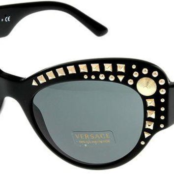 ONETOW Versace Sunglasses Womens Black Cateye 100% UV Protection VE4269 GB1/87