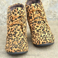 Never Enough Bootie in Leopard