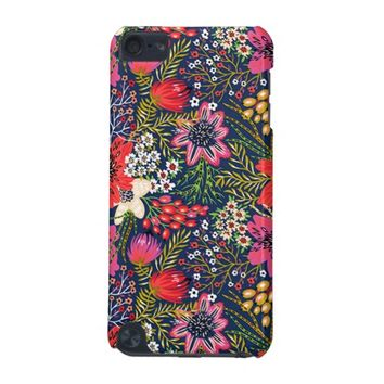 Vintage Bright Floral Pattern iPod Touch Case