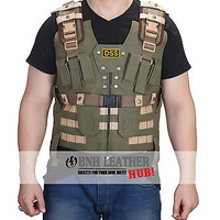 The Rock Dwayne Johnson Fast and Furious 7 New DSS Tactical Leather Vest
