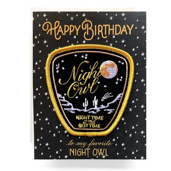 Night Owl Patch Card