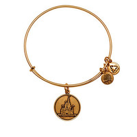 Disney Parks WDW Castle Charm Bracelet Bangle Alex & Ani Gold New With Tags