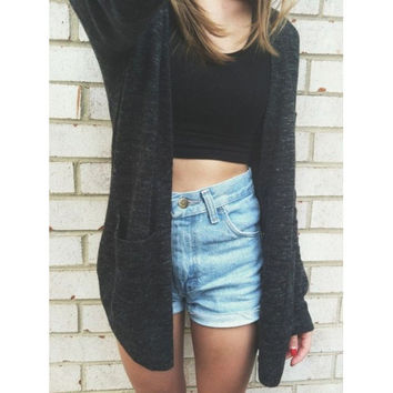 Fashion loose knitting sweater cardigan