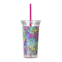 Lilly Pulitzer Tumbler with Straw - Lilly's Lagoon