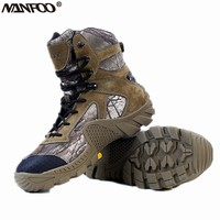 New Four Seasons Men's High Boots EVA Shoe Sole Camouflage Hiking Hunting Shoes Assault Boots Military Tactical Bionic Camo Shoe