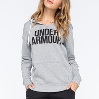 Under Armour Favorite Womens Hoodie True Gray Heather  In Sizes