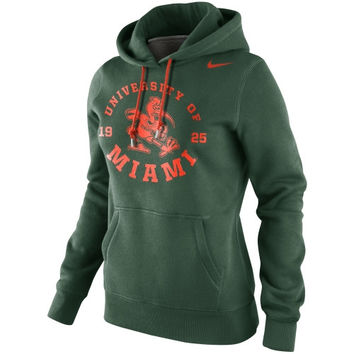 Nike Miami Hurricanes Womens School Stamp Pullover Hoodie - Green