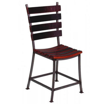 Reclaimed Wine Barrel Stave Back Dining Chair