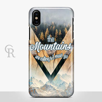 Mountains Are Calling Phone Case For iPhone 8 iPhone 8 Plus - iPhone X - iPhone 7 Plus - iPhone 6 - iPhone 6S - iPhone SE - Samsung S8