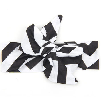 Headband Girls Ribbon Bow Headband Elastics For Newborns Elastic Hair Head Band Bandeau Fille#3546 SM6