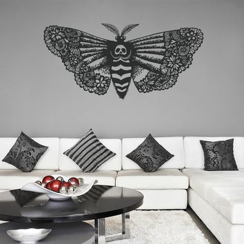 ik1124 Wall Decal Sticker death's-head moth butterfly bedroom