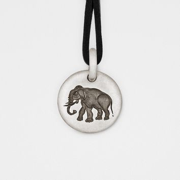 Unisex Elephant Charm Pendant in Sterling Silver - USA- Complimentary Shipping