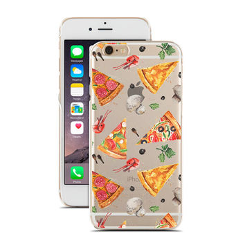 Watercolor Pizza Pattern - Super Slim - Printed Case for iPhone - S048