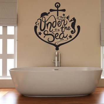 Vinyl Wall Decal Sticker Under the Sea Anchor and Animals #OS_DC563