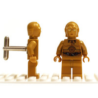 Lego Cufflinks. Star Wars C-3PO - Pearl Gold minifigure cuff links. SW161A. Wedding gift, graduation, groomsman
