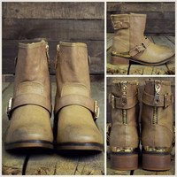 Valley Trooper Taupe Cut Off Boots