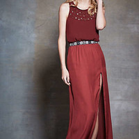 Jeweled Arezzo Petite Maxi Dress