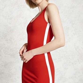 Contrast Side Bodycon Dress