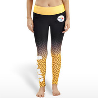 Pittsburgh Steelers Womens Gradient Official NFL Print Leggings