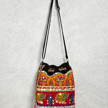 Embellished Bucket Bag