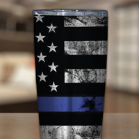 Thin Blue Line Stainless Steel Tumblers