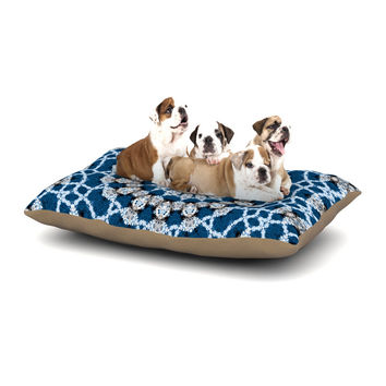 "Iris Lehnhardt ""Mandala II"" Blue Abstract Dog Bed"