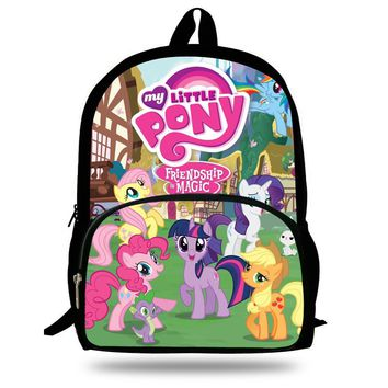 16-inch Fashion My Little Pony Backpacks For Teenage Girls Cartoon Back Packs School Bags For Boys Kids Printed Backpacks