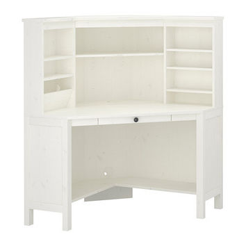 Hemnes Corner Workstation White 102x137 Cm Ikea