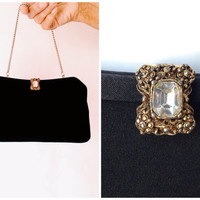 1950s Clutch | 1950s Admiral Clutch | Vintage Black Clutch | 1950s purse | 1950s black clutch | Black Handbag | Sophisticated Cl