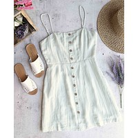 cotton candy la - julietta button down woven dress - sage
