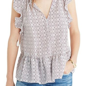 Madewell Lily Ruffle Silk Blouse | Nordstrom