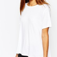 Missguided Dip Hem T-Shirt
