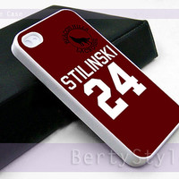 Iphone Case - Iphone 4 Case - Iphone 5 Case - Samsung s3 - samsung s4 - Teen Wolf STILINSKI lacrosse jersey - Photo Print on Hard Plastic
