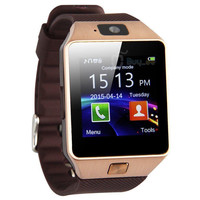 DZ09 Smart Watch Bluetooth + Camera For Android IOS Phones Rose Gold