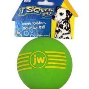LMFYN5 JW Pet Company iSqueak Ball Large Dog Toy