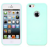 Alice Pastel iPhone 5 / 5S Case (LOGO Hole) - Mint Green