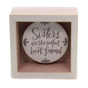 Home Decor SISTERS ARE PERFECT BEST FRIEND Wood Box Sign Family 34136