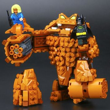 Batman Dark Knight gift Christmas 469pcs Batman Movie Compatible Legoe Batman The Rock Monster Clayface Splat Attack Building Block Toys AT_71_6