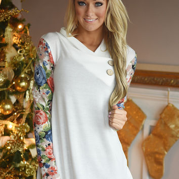 In Bloom Top ~ White