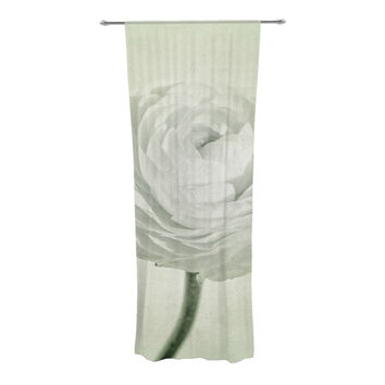 "Iris Lehnhardt ""Whity"" Gray Floral Decorative Sheer Curtain"