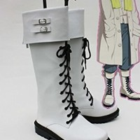 Dramatical Murder DMMD Clear Cosplay Shoes White Boots