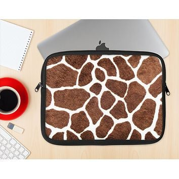 The Real Giraffe Animal Print Ink-Fuzed NeoPrene MacBook Laptop Sleeve